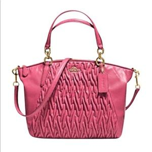 SMALL KELSEY SATCHEL IN GATHERED TWIST LEATHER